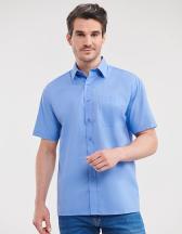 Men`s Short Sleeve Classic Polycotton Poplin Shirt