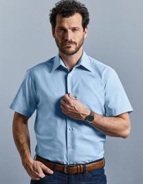 Men`s Short Sleeve Tailored Oxford Shirt