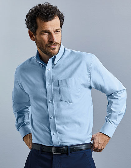 Men`s Long Sleeve Classic Oxford Shirt